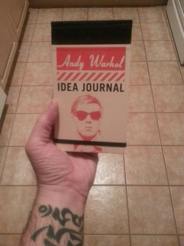 My uber cool and drastically empty Andy Warhol Journal!