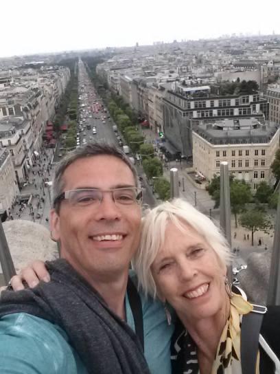 Nina. Atop the Arc de Triomphe. Paris, 2014.