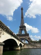 Tower Eiffel, as seen on our boat tour of the Seine.