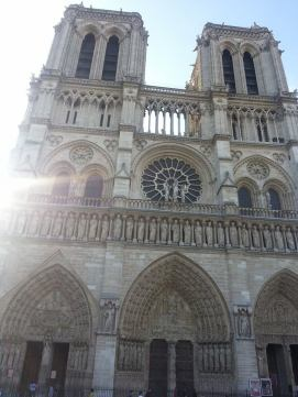 Notre Dame, which was just down the street...