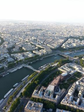 The Seine, from atop the Tower Eiffel.