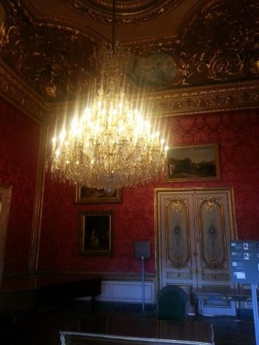 Inside the Louvre, in the apartments of Napoleon!