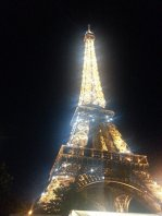 The Tower Eiffel at night...I'm sure the lightshow was for me and Nina alone. (-: