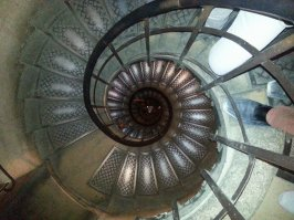The neverending spiral staircase one must climb to reach the top of the Arc de Triomphe!