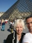 Nina and I about to take on the Louvre! And we were running!