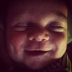 Smiling Buddha - Charlie at one month old...