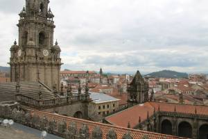 The View NOT of the Cathedral of Camino de Santiago, but FROM Atop it!