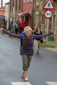 """Captain, My Captain!"" ~ Sue Kenney, Pilgrim Guide to The Camino"
