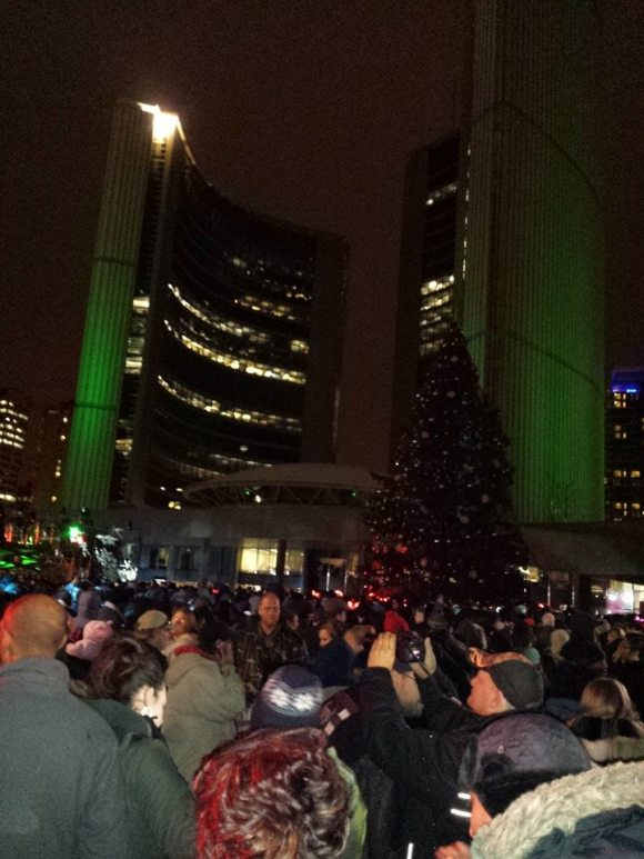 Toronto City Hall Festival of Lights - The Secret to Writing Good Dialogue is to make yourself a part of the crowd. LISTEN. Then write!