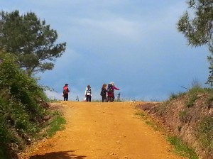 To the Top of the World! Somewhere in Spain, on the Camino...
