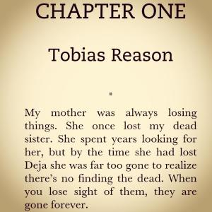 The opening lines of The Reasons, my third novel.