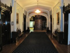 The grand entrance hall leading to the staircase to the 2nd story of the castle...