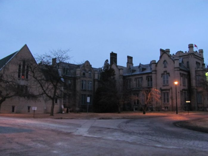 The extraordinary Trafalgar Castle in Whitby, Ontario. Currently an all-girls boarding school...