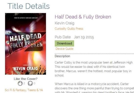 Click this picture to be taken to Net Galley to download a review copy of HALF DEAD & FULLY BROKEN...