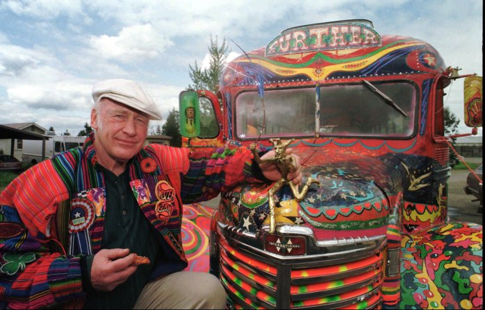 The lovely KEN KESEY and his bus to FURTHER...