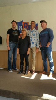 Tobin Elliott, Christine Cowley, Kevin Craig, Dale Long...at Hunter's Bay Radio.