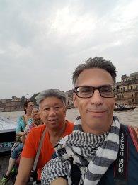 Michael, on the Ganges, Varanasi, India, 2018