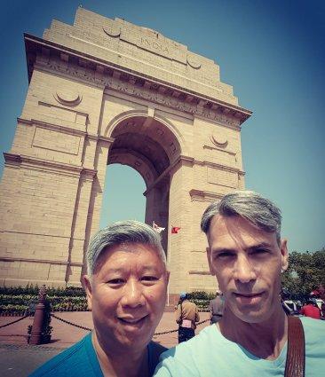 Michael, India Gate, New Delhi, India, 2018